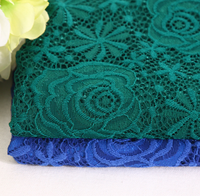 Wholesale High Quality plain color Embroidered Sequin lace fabric for dress