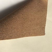 soft Flocked suede PU bonded Leather for mat and furniture application