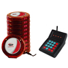 Wireless guest queue system calling restaurant coaster pager system for restaurant