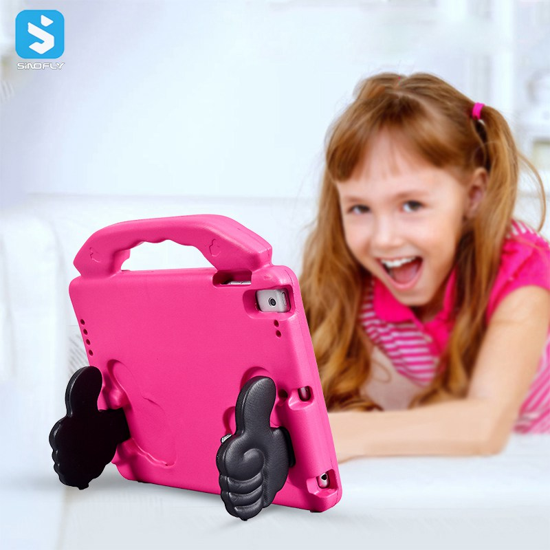 for <strong>ipad</strong> kids case, Shock Proof Handle Case thumb design,Super Protective Cover Stand EVA Tablet Cases for children for <strong>ipad</strong> 9.7
