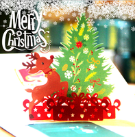 Wholesale Custom Handmade Holiday Greeting Postcard Paper Christmas Cards