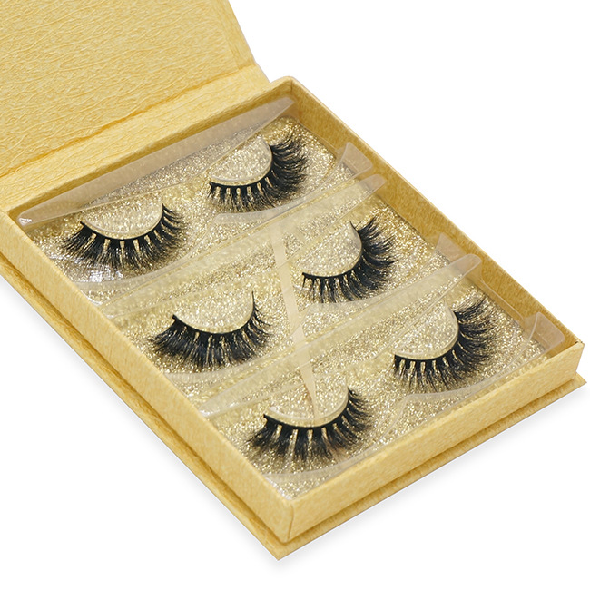 3 Pairs Mink Eyelashes 3D Mink Lashes Thick HandMade Full Strip Lashes Cruelty Free Luxury Makeup Dramatic Lashes