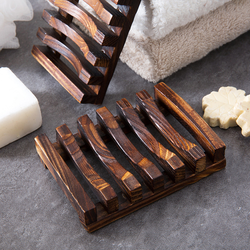 Bathroom Accessory Natural Soap Bamboo Wood Soap Dish Holder