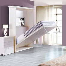 Space saving bedroom Iron Manual models <strong>furniture</strong> wall mounted folding bed murphy bed wall bed system