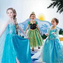<strong>Girl's</strong> Princess Elsa Children Cosplay Snow Queen Costume Halloween Carnival Birthday Party Clothes <strong>Dress</strong>