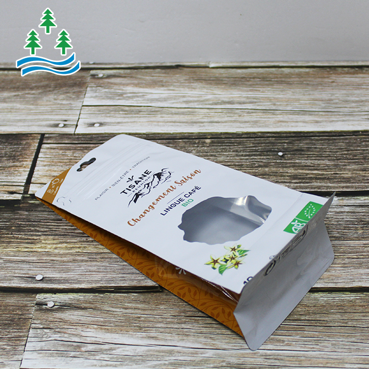 High Quality Plastic OEM food packaging bags flat bottom Packaging bag zipper pouch for snack