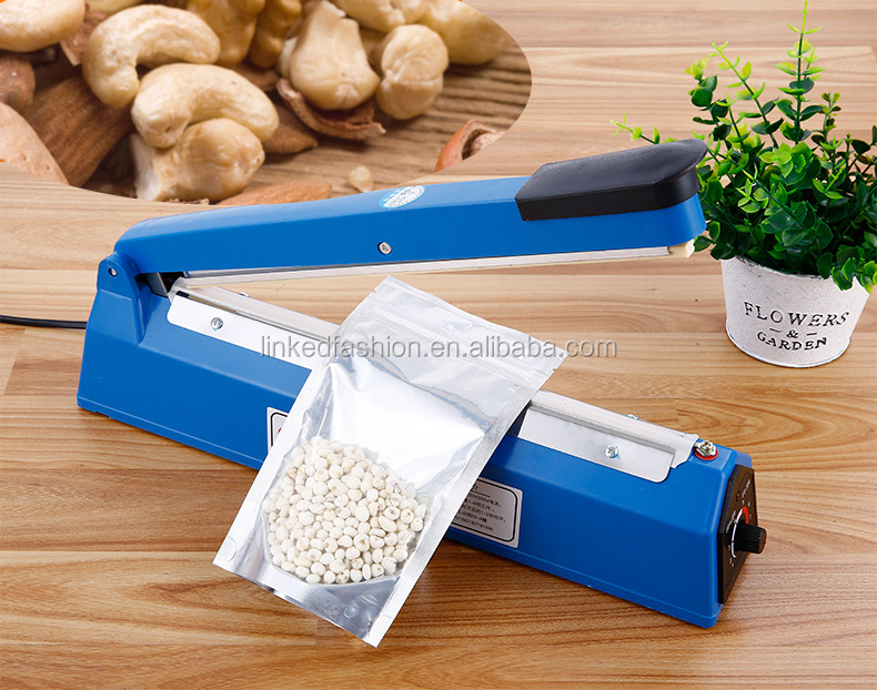 12 Inch Food Sealer Packaging Machine Sealing Machine Hand Pressure Manual Impulse Hand Heat Sealer Bag Machine Eu Plug