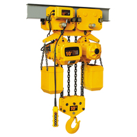 Electric chain hoist with motorized trolley 15 ton