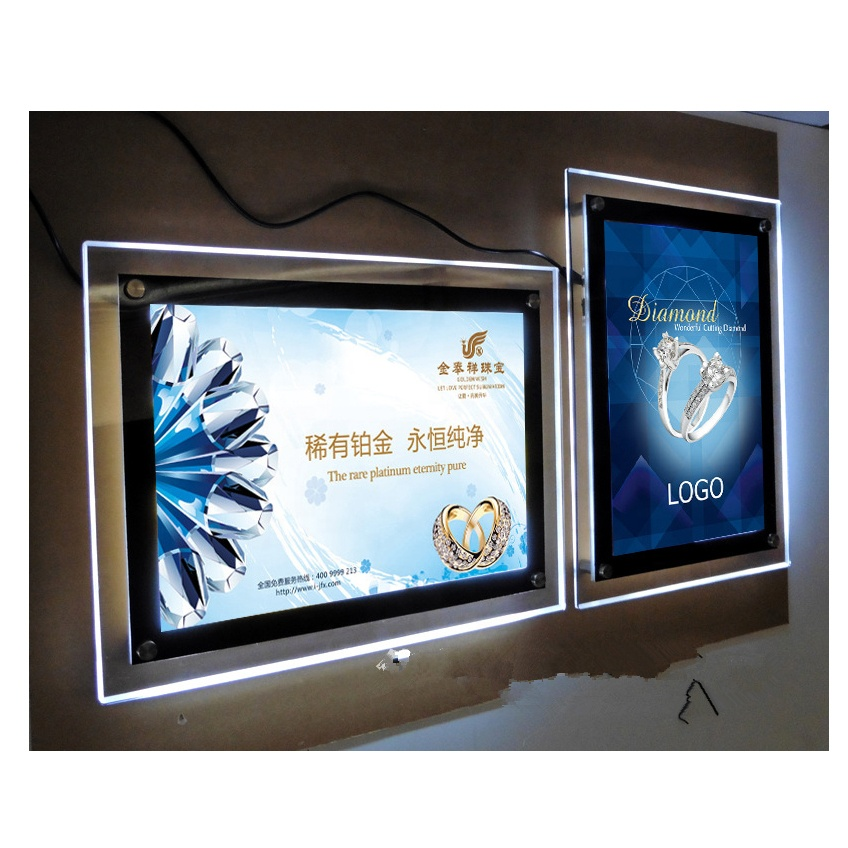 New invention led crystal light panel magic <strong>display</strong>/<strong>a0</strong> slim lightbox acrylic frame box