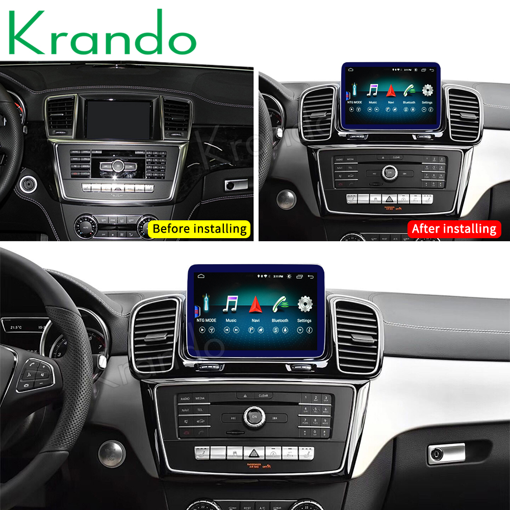 Krando <strong>Android</strong> 10.0 4G 64G 8 CORE 8.4'' Car Radio for mercedes benz ML/GL <strong>W164</strong> SLK GLE/GLS 2012-2018 NTG 4.5 5.0 Carpaly Audio