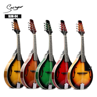 wholesale chinese wooden folk musical instruments DIY kit colorful acoustic mandolin