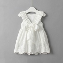 New Children's Skirt <strong>Girl's</strong> vest, <strong>Dress</strong> with back Lace Embroidered Princess Skirt