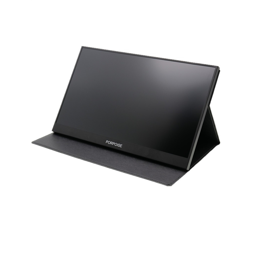 HD 1080P Portable monitor 17.3 inch with Type-<strong>C</strong> leather holster for expand <strong>mobile</strong> PC laptop screen