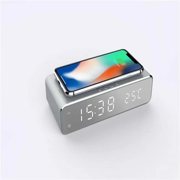 Qi Wireless Charger Clock Alarm with Date & Temperature Display