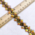 Factory latest design  iron on Resin diamond  trim chain for dress and sandals