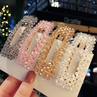 Crystal hairpin hand made Insta-famousor Bangs clip Korean Super Fairy Lady Hairpin Pearl Hair Accessories