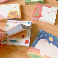 Hot Selling Korean Cartoon Cute Small Bear Notebook Student Memo Message Book, Factory Stationery Message Note Stickers