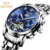 KINYED Brand Waterproof Automatic Skeleton  Watches Stainless Steel Strap Mechanical Men's OEM Order Watch