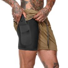 OEM Wholesale Double Workout Sports Shorts gym wear for <strong>men</strong> With Pockets