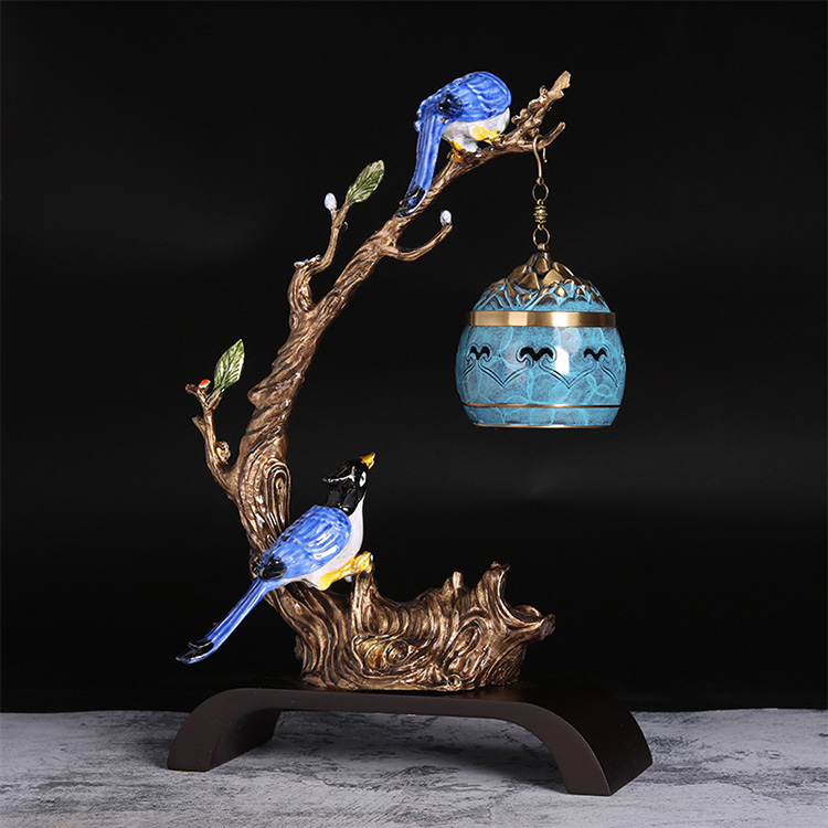 New hot selling high-quality metal hanging incense burner  bird shaped copper-plated censer