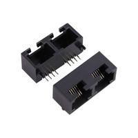 5324 Mini-B Series 1 * 2 Port RJ45 Connector Thru Hole R/A Mounting 100 Base - T