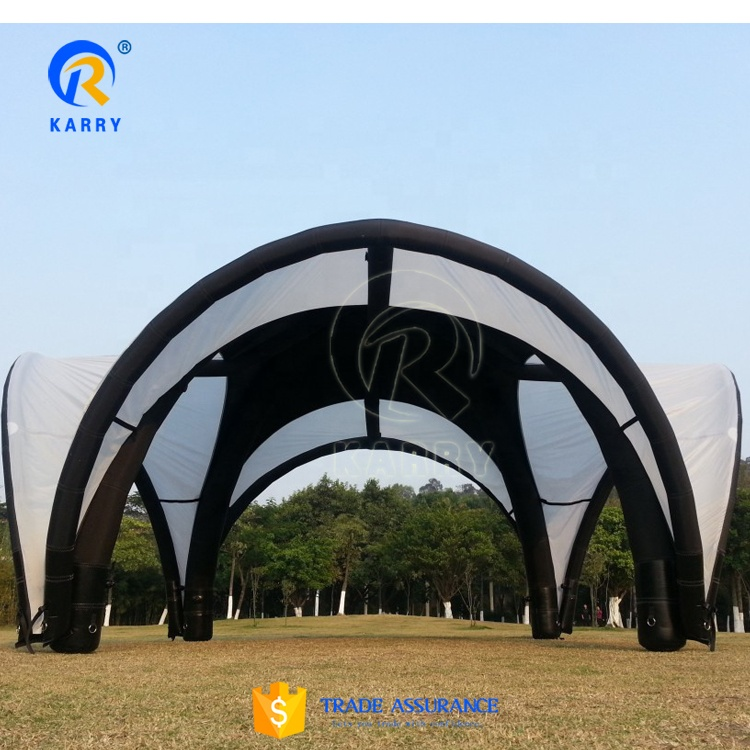 High quality black 0.45mm PVC material inflatable tent for events factory accept custom air durable tent for exhibition