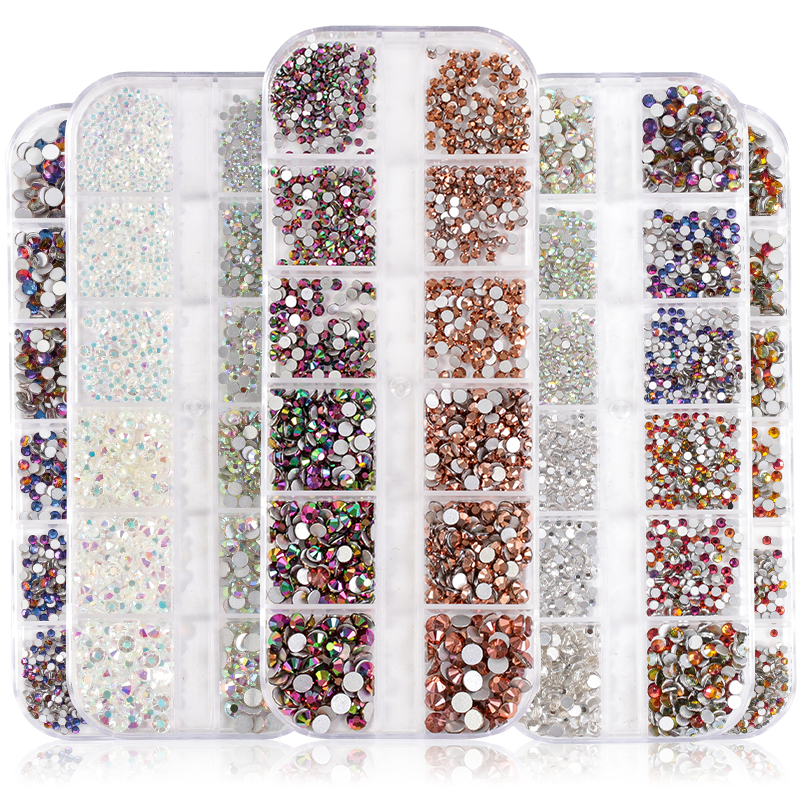 Xiaopu New Design 12 Blanks Sets Flatback Non Hotfix Rhinestones Non Hot Fix <strong>Crystal</strong> for Nail Art Phone Case Clothing