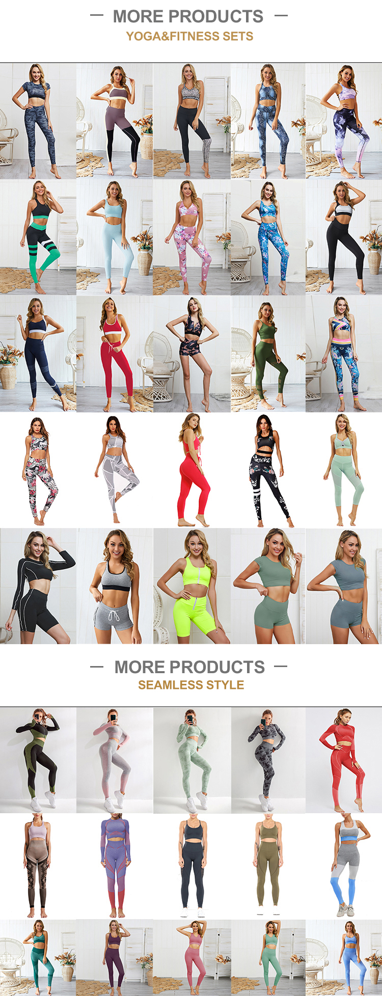 In Stock Athletic Apparel Manufacturers New color Yoga Set Ladies Seamless Sportswear Gym Wear For Girls