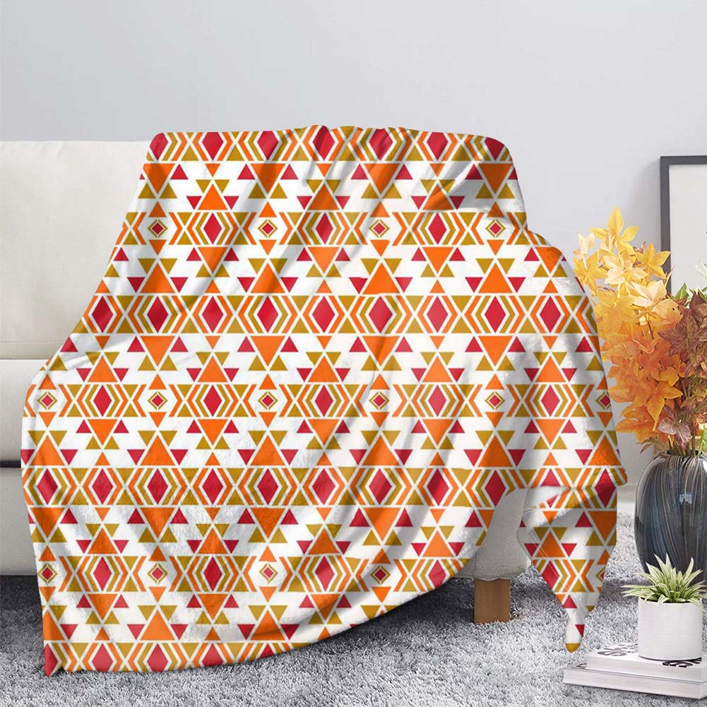 THIKIN Wholesale Throw Blanket Custom <strong>Plaid</strong> Design Printed Super Soft Blanket Lightweight All Seasons Summer Polyester Blanket