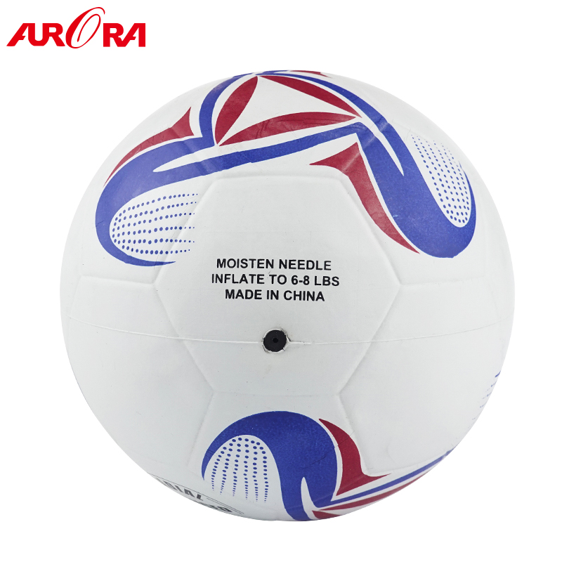 hot-selling white-blue  rubber football ball size 4 soccer training ball