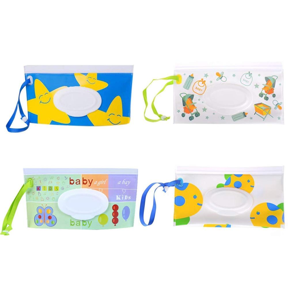 Refillable Personal Travel Clutch Dispenser Pouch Holder Reusable Empty Diaper Wipe Holder Baby Wet Wipe Packaging Bag