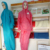 safety clothes protection coat of  coverall non woven fabric