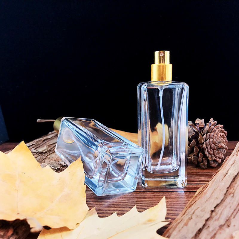 50ml Fancy High Grade Crystal Glass Empty Bottle with Gold Sprayer for Storing Personal Care Scent Perfume