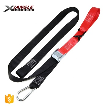 Heavy duty 1.5 inch 38mm 550kgs Motorcycle Soft Loop Cam Buckle Tie Down Straps Adjustable webbing straps with buckles