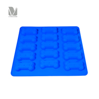 Wholesale 15-Cavity Bone Shape Silicone Mold for Making Frozen Dog Treats, Baked Goods, Soap Bars, Chocolate Candies