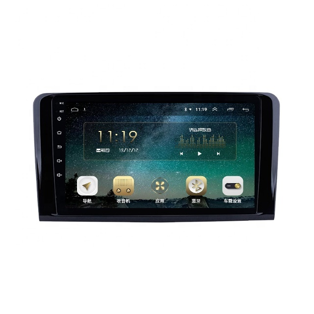 Android 9.0 multimedia system car video mp3 stereo 2 din GPS car player navigation For ML CLASS <strong>W164</strong> ML350 ML430 ML450 ML500