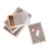 ZL costom drawer eyelash kraft paper box packaging with plastic clear sleeve