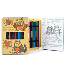Eco friendly Kraft Customized Drawing Notebook with color pencil Coloring <strong>book</strong> for kids