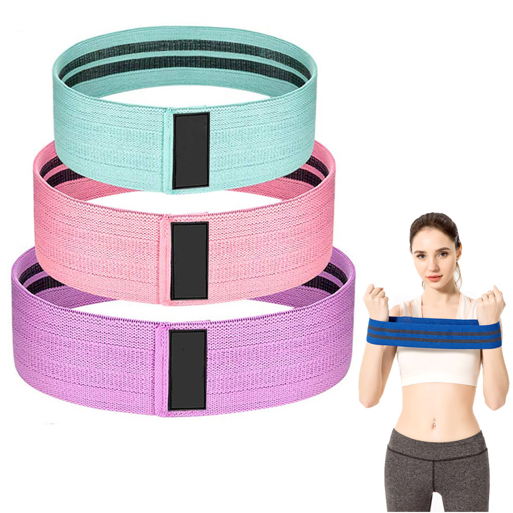 S, M, L, Customized Size Customized Color glute exercise <strong>fitness</strong> bands Hip Circle Booty Bands