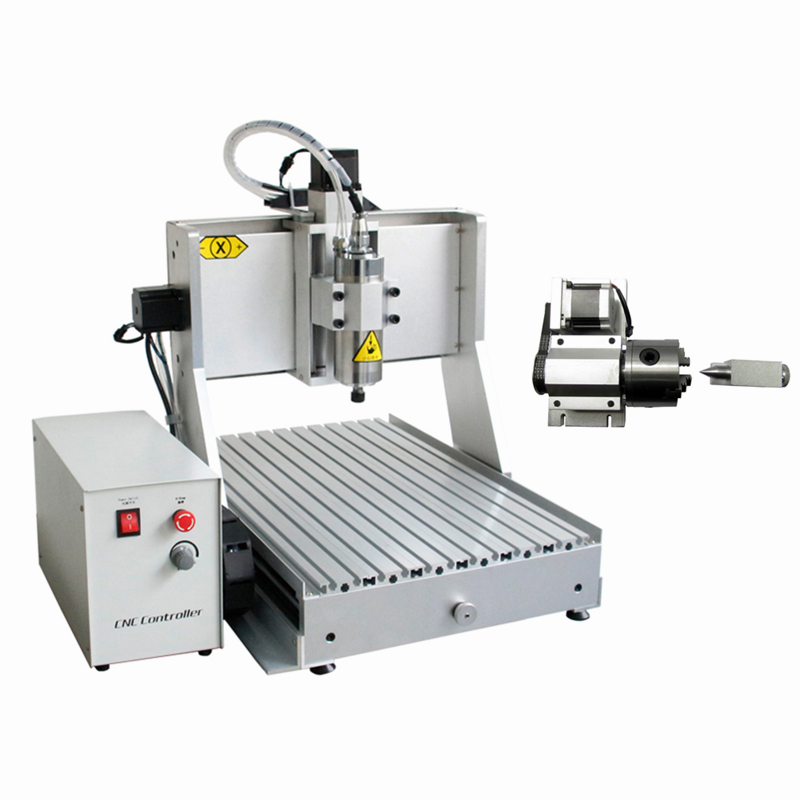 LY CNC Engraving machine 3040 <strong>1</strong>.5KW VFD USB 4 axis Drilling and Milling Machine <strong>Z</strong> axis stroke 130mm For woodworking