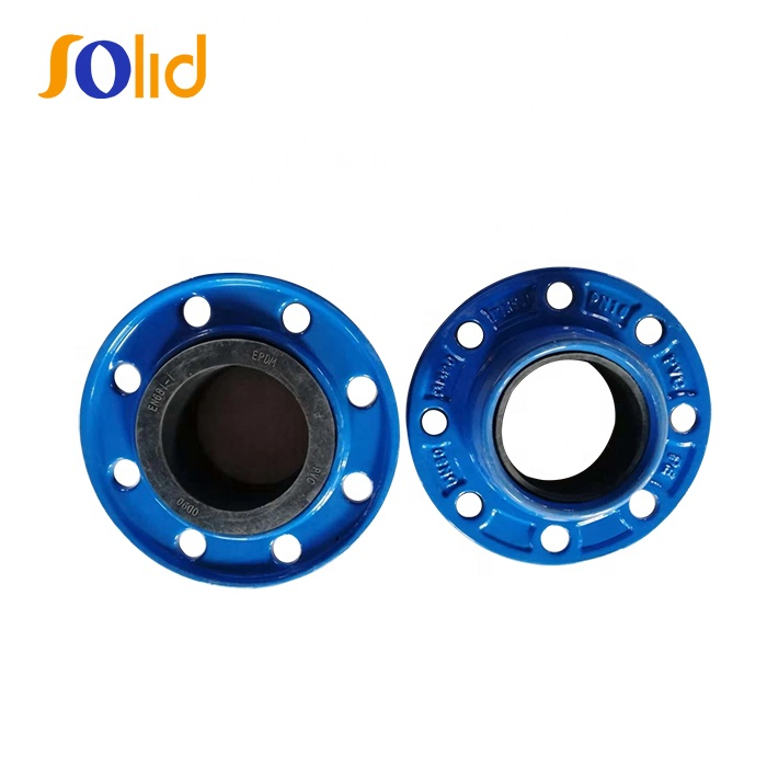 PVC/PE/DI Pipe OD 50mm Ductile Iron Quick Flange Adaptor with PN10/16