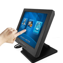 Flat Screen Frameless waterproof 10inch touch screen monitor for restaurant order POS Cash register <strong>system</strong>