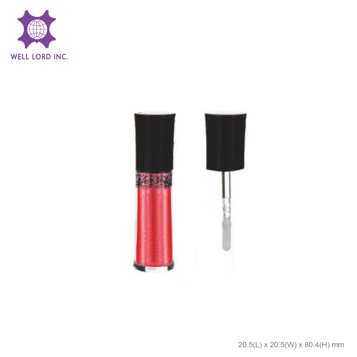 Duo usage screw cap shimmer classic lipstick cylinder twist pink lipstick case