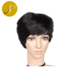 Pearlcoin Hot Fashion Bob Natural Color Short Pixie Cut Wig Machine Made Mixed Human Hair Wigs For African American Women