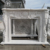 hand carved Indoor white marble fireplace