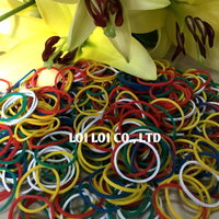 2020 Wholesale girl Fashion Elastic Rubber Bands Floral tie Hair Accessories / Colorful compound natural rubber band