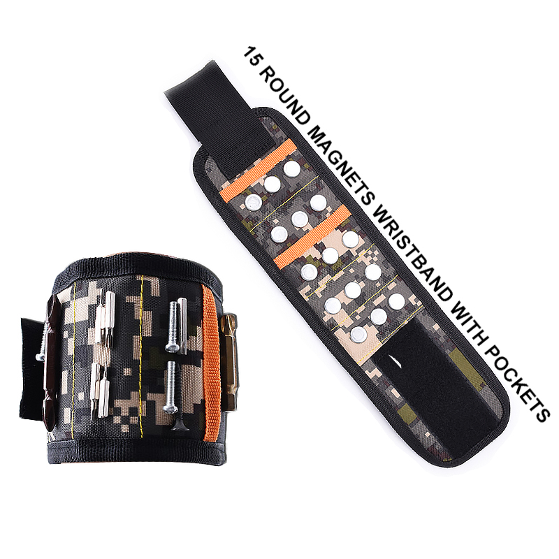 Latest N42 magnet OEM magnetic wristband <strong>tool</strong> with pocket premium Magnetic Wristband