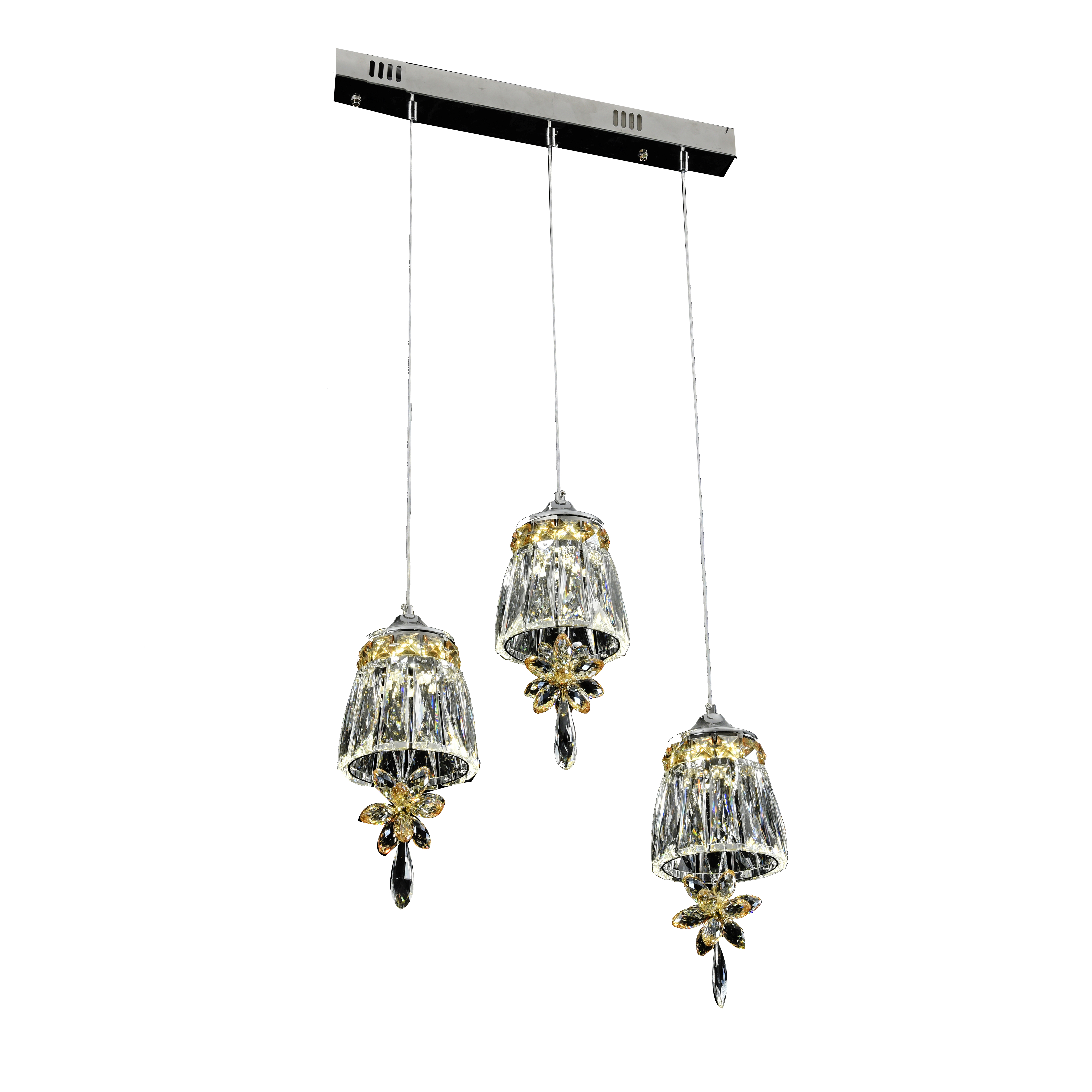 crystal hanging lamp decorative modern led chandelier