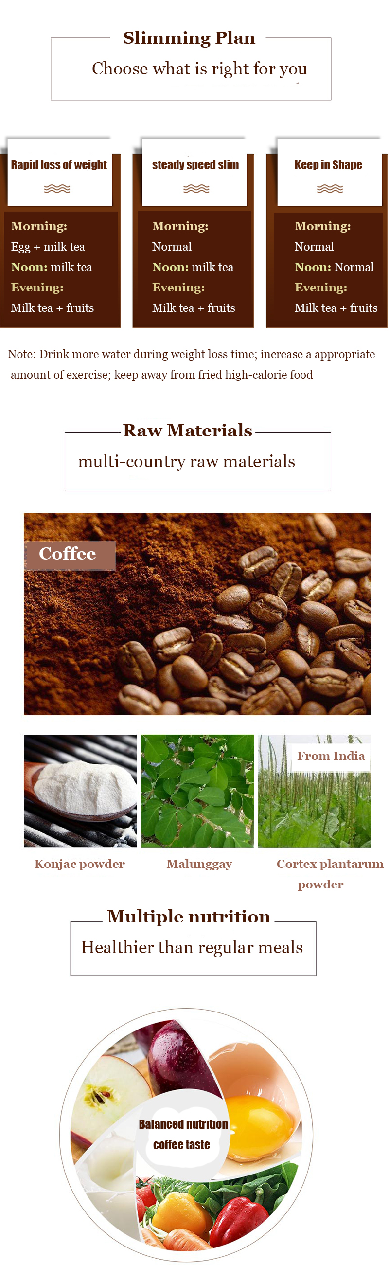 Porshealth OEM Many flavors private label china instant coffee powder slimming coffee