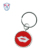 Promotional Key Chain Mustache Embroidered Key Chain Key ring